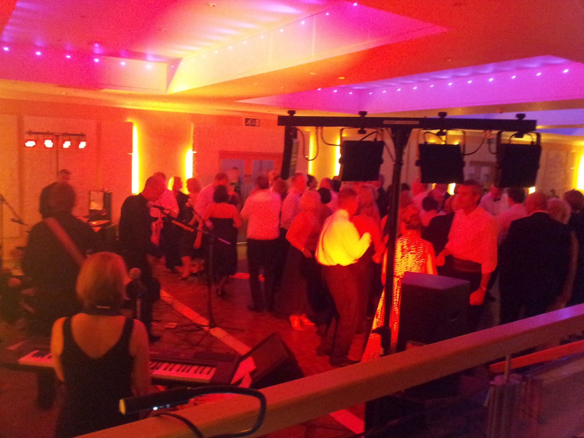 The Extra Covers playing in the Parkland Suite for the Cold Ash Summer Ball